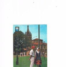 Postales: POSTAL ANTIGUA VIZCAYA CIRCULADA BILBAO PAREJA TIPICA Y BASILICA DE BEGOÑA. Lote 58686939
