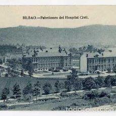 Postales: BILBAO PABELLONES DEL HOSPITAL CIVIL ED. L.G. SIN CIRCULAR. Lote 58821391