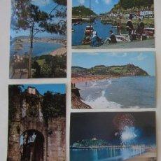 Postales: LOTE DE 5 POSTALES DE SAN SEABSTIAN. Lote 59000960