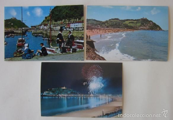Postales: LOTE DE 5 POSTALES DE SAN SEABSTIAN - Foto 2 - 59000960