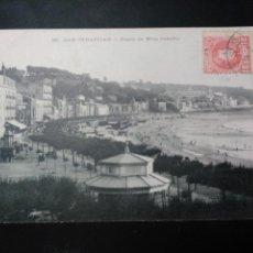 Postales: POSTAL DE SAN SEBASTIAN. PASEO DE MIRACONCHA. CIRCULADO A FRANCIA. 1909. SELLO Y MATASELLO. Lote 59728779