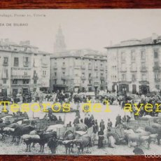 Postales: POSTAL DE VITORIA. ALAVA. PLAZA DE BILBAO. MERCADO. PIO LUIS LARRAÑAGA. SIN CIRCULAR. REVERSO DIVIDI. Lote 59950739