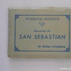 Postales: FOTOGRAFIAS ARTISTICAS RECUERDO DE SAN SEBASTIAN. 10 VISTAS MINIATURA. POSTALES. TDKP7. Lote 61913696