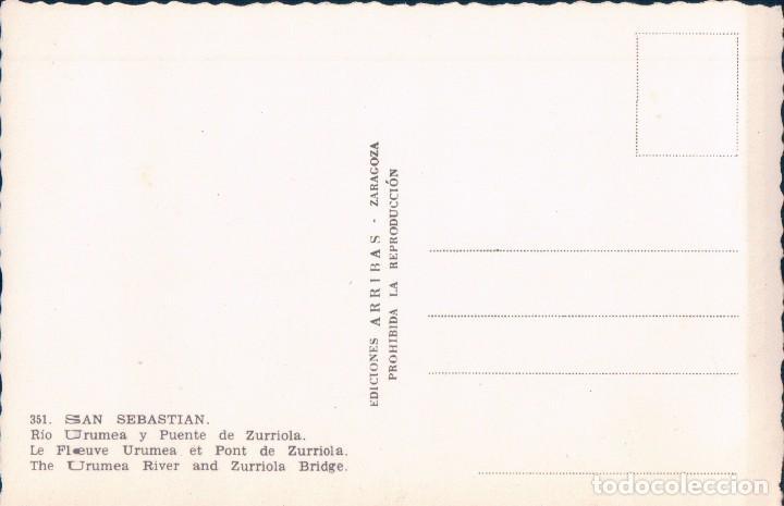 Postales: POSTAL SAN SEBASTIAN.- RIO URUMEA Y PUENTE DE ZURRIOLA. ED. ARRIBAS - Foto 2 - 62955608
