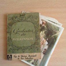 Postales: GRABADOS WILKINSON LIBRILLO 12 POSTALES QUE DETALLAN PUEBLOS EN POSTAL GUIPUZCOA GIPUZKOA 1800 1900. Lote 63319864