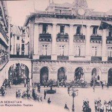 Postais: POSTAL SAN SEBASTIAN, LLEGADO DE SUS MAJESTADES REALES. 21 MAYOR HERMANOS. Lote 63905855