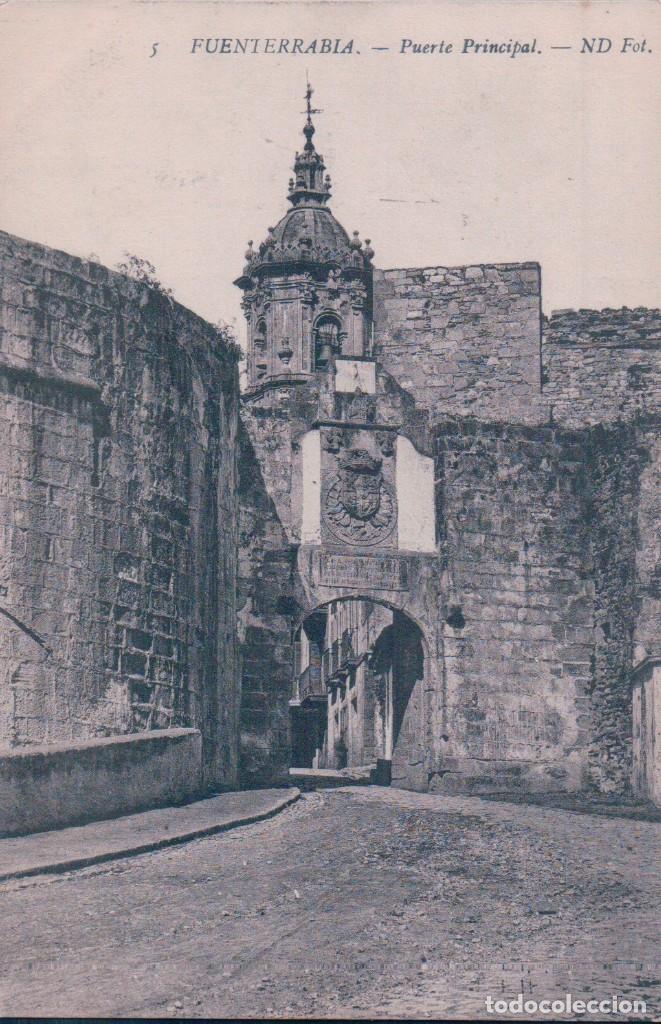POSTAL DE GUIPÚZCOA. FUENTERRABIA HONDARRIBIA. PUERTA PRINCIPAL. 5 ND FOT (Postales - España - Pais Vasco Antigua (hasta 1939))