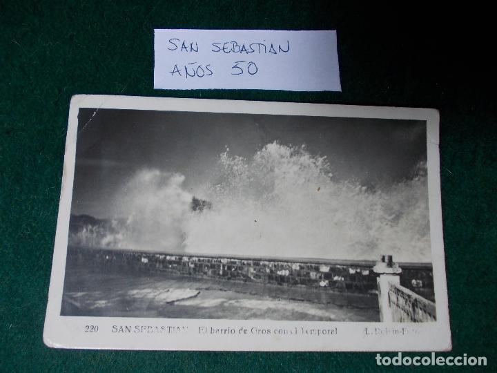POSTAL DE SAN SEBASTIAN AÑOS 50 (Postales - España - País Vasco Moderna (desde 1940))