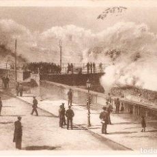 Postales: SAN SEBASTIAN EL ROMPE OLAS, MAR GRUESA CIRC. 1934. Lote 65825658