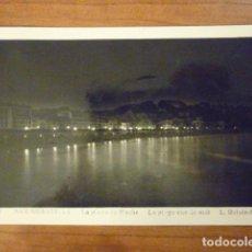 Postales: POSTAL PLAYA DE SAN SEBASTIAN DE NOCHE. FOTO L. ROISIN. . Lote 65961646