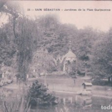 Postales: SAN SEBASTIAN GUIPUZCOA JARDINES DE LA PLAZA GUIPUZCOA J. LATIEULE EDITOR 35. Lote 66766822