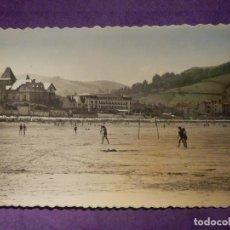 Postales: POSTAL - ESPAÑA - GUIPUZCOA - ZARAUZ - 10 PLAYA Y HOTELES - ESCRITA. Lote 66792310