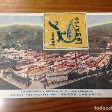 Postales: ANTIGUA POSTAL PUBLICIDAD JABON LAGARTO LIZARITURRY Y REZOLA SAN SEBASTIAN. Lote 67149293