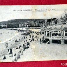 Postales: POSTAL DE SAN SEBASTIAN: PLAYA Y BALNEARIO LA PERLA. Lote 67775185