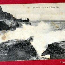 Postales: POSTAL DE SAN SEBASTIAN: EL ROMPE OLAS. Lote 67775477