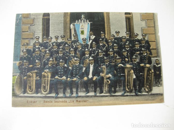 TARJETA POSTAL DE LA BANDA LAUREADA LA MARCIAL. EIBAR. SIN CIRCULAR. PAIS VASCO (Postales - España - Pais Vasco Antigua (hasta 1939))