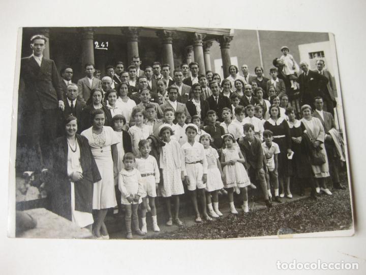 FOTOGRAFIA POSTAL DE LA EXCURSION DEL CLUB DEPORTIVO A GUERNICA EN 1932 (Postales - España - Pais Vasco Antigua (hasta 1939))