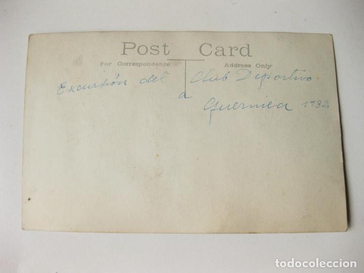 Postales: FOTOGRAFIA POSTAL DE LA EXCURSION DEL CLUB DEPORTIVO A GUERNICA EN 1932 - Foto 2 - 68531501
