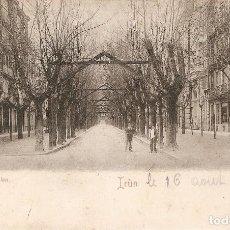 Postales: IRUN- PASEO DE COLÓN REVERSO SIN DIVIDIR CIRCULADA 1903 . Lote 69380549
