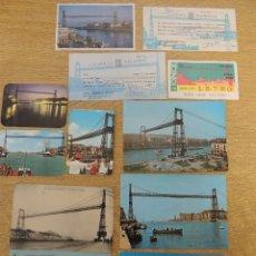 Postales: PUENTE COLGANTE VIZCAYA. Lote 70086193