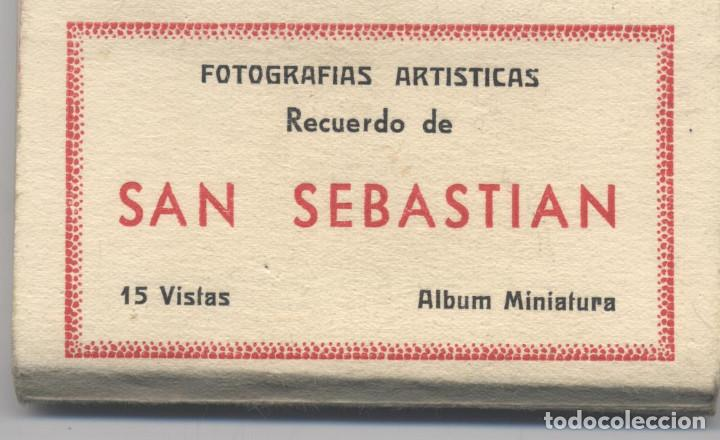 LIBRO DE 15 POSTALES-FOTOGRAFIAS ARTISTICAS RECUERDO DE SAN SEBASTIAN-FOTO GALARZA (Postales - España - País Vasco Moderna (desde 1940))