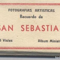 Postales: LIBRO DE 15 POSTALES-FOTOGRAFIAS ARTISTICAS RECUERDO DE SAN SEBASTIAN-FOTO GALARZA. Lote 70116641