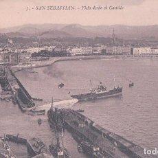 Postales: POSTAL SAN SEBASTIAN - VISTA DESDE EL CASTILLO 5 - GALARZA - BARCO. Lote 71133985