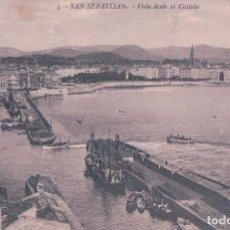 Postais: POSTAL SAN SEBASTIAN VISTA DESDE EL CASTILLO -GALARZA NUM 5- CIRCULADA. Lote 71738431