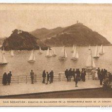 Postales: SAN SEBASTIAN .- REGATAS BALANDROS INCOMPARABLE BAHIA DE LA CONCHA . Lote 71753823