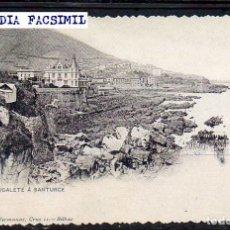 Postales: TARJETA POSTAL ~ EKL PDE ~ FACSIMIL ~ PORTUGALETE SANTURCE ~ REPRODUCCIÓN. Lote 72444547