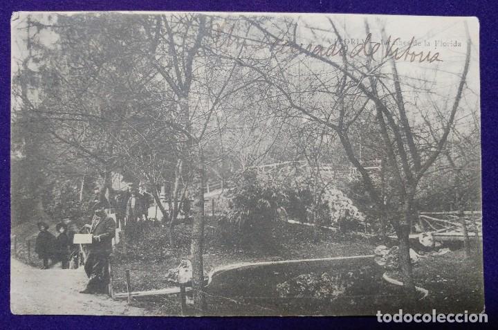 POSTAL DE VITORIA (ALAVA). JARDINES DE LA FLORIDA. AÑO 1905. E.J.G (Postales - España - Pais Vasco Antigua (hasta 1939))