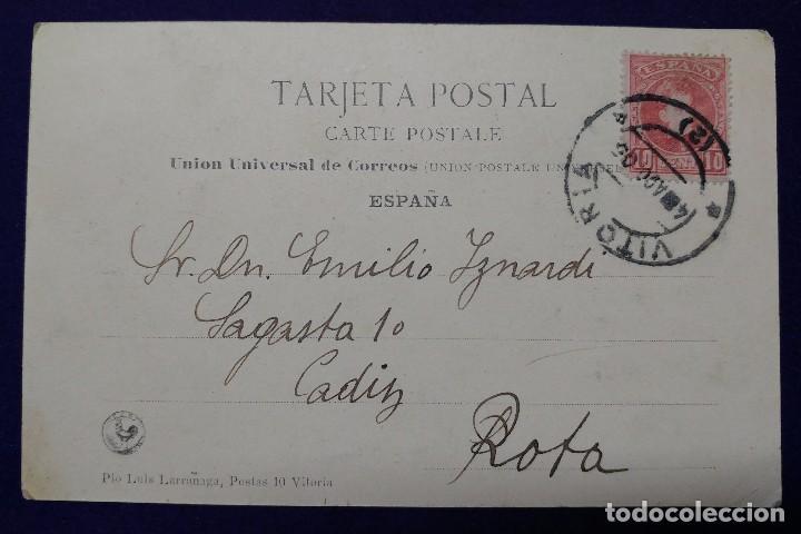 Postales: POSTAL DE VITORIA (ALAVA). JARDINES DE LA FLORIDA. AÑO 1905. E.J.G - Foto 2 - 73584383