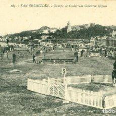 Postkarten - SAN SEBASTIAN. CAMPO DE ONDARRETA. CONCURSO HÍPICO. HACIA 1920. - 73824887