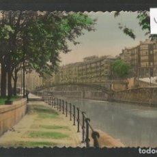 Postales: BILBAO -10 - LA RIA Y PASARELA - FIGUERELA - VER FOTOS -(46.434). Lote 74901147
