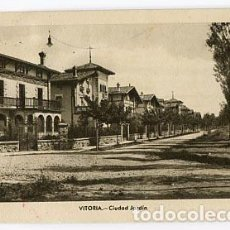 Postales: VITORIA CIUDAD JARDIN. ED. M. ARRIBAS. CIRCULADA. Lote 161154764