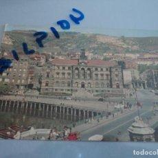 Postales: BILBAO PUENTE DEL GENERAL MOLA Y AYUNTAMIENTO ED. DARVI. Lote 76663291