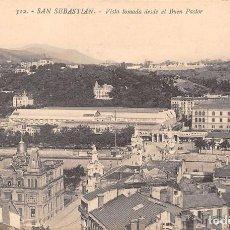Postales: SAN SEBASTIÁN (GUIPUZCOA).- VISTA TOMADA DESDE EL BUEN PASTOR. Lote 76844263