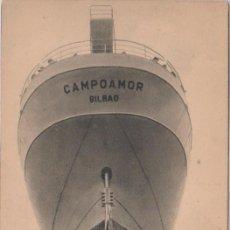 Postales: BILBAO (VIZCAYA) B.M. CAMPOAMOR - VISTA DE LA DISPOSICION DE HELICES Y TIMON. Lote 77942789