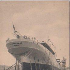 Postales: BILBAO (VIZCAYA) B.M.CAMPOAMOR - PREPARACION DE LA IMADA PARA LA BOTADURA. Lote 77942825