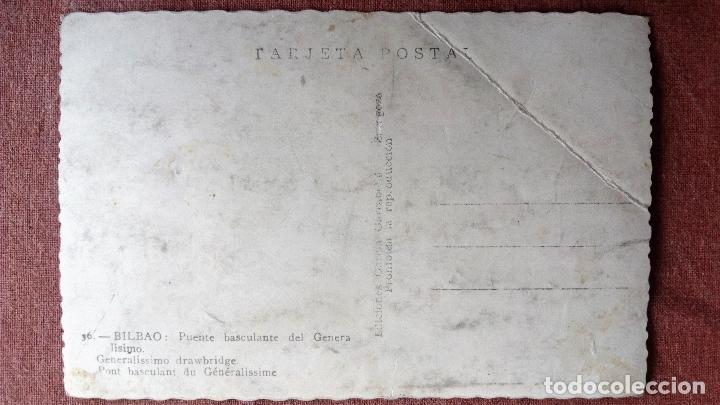 Postales: POSTAL BILBAO - PUENTE BASCULANTE DEL GENERALISIMO - Foto 2 - 78527693