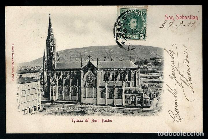 POSTAL ANTIGUA IGLESIA DEL BUEN PASTOR. (Postales - España - País Vasco Moderna (desde 1940))