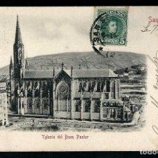 Postales: POSTAL ANTIGUA IGLESIA DEL BUEN PASTOR.. Lote 78645757
