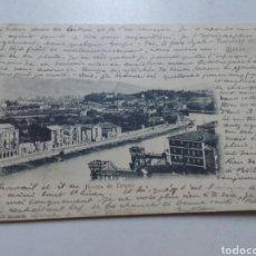 Postales: POSTAL BILBAO. RIVERA DE DUSTO. CIRCULADA 1902. . Lote 79287215