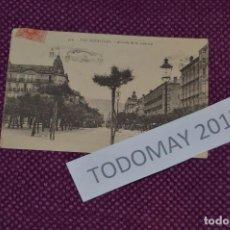 Postales: ANTIGUA POSTAL DIRIGIDA DESDE SAN SEBASTIAN A NUEVA YORK - 1921 - AVENIDA DE LA LIBERTAD - MUY RARA. Lote 80138061