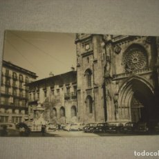 Postales: BILBAO 16 . PLAZA Y CATEDRAL DE SANTIAGO . FOTO ABADAL , SIN CIRCULAR. Lote 80348269