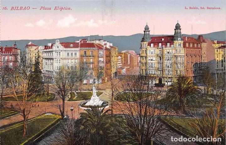BILBAO.- PLAZA ELÍPTICA (Postales - España - Pais Vasco Antigua (hasta 1939))