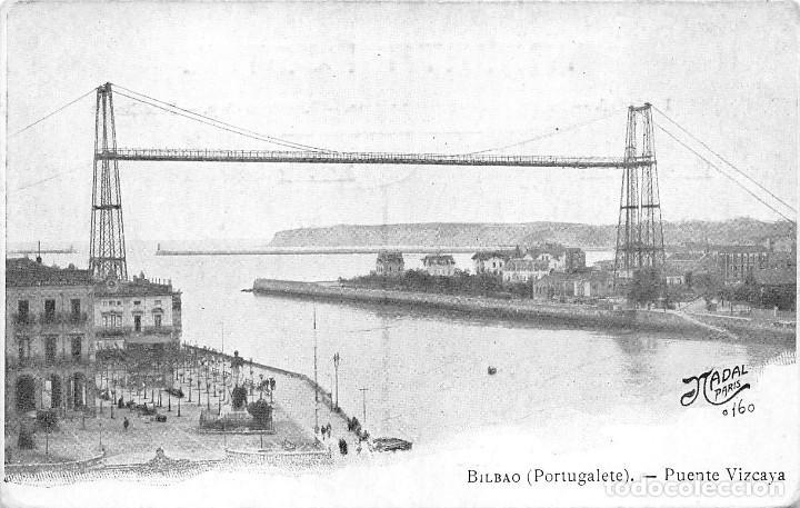 BILBAO (PORTUGALETE).- PUENTE VIZCAYA (Postales - España - Pais Vasco Antigua (hasta 1939))