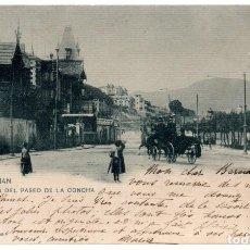 Postales: TARJETA POSTAL ,SAN SEBASTIAN ,HOTELES DEL PASEO DE LA CONCHA, HAUSER Y MENET.. Lote 81871192