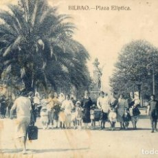 Postales: TARJETA POSTAL BILBAO PLAZA ELIPTICA SIN CIRCULAR FOTO OJANGUREN. Lote 82195492
