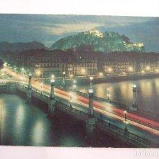 Postales: POSTAL GUIPUZCOA - SAN SEBASTIAN - VISTA PARCIAL NOCTURNA - 1964 - NAYLLA - CIRCULADA. Lote 82732632